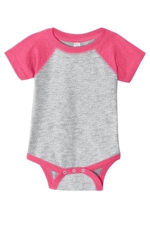 Rabbit Skins™ Infant Baseball Fine Jersey Bodysuit