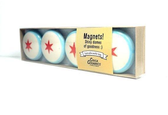 Chicago Flag Magnet Set - 4 Pack