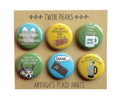 Twin Peaks 6 Piece Magnet Set
