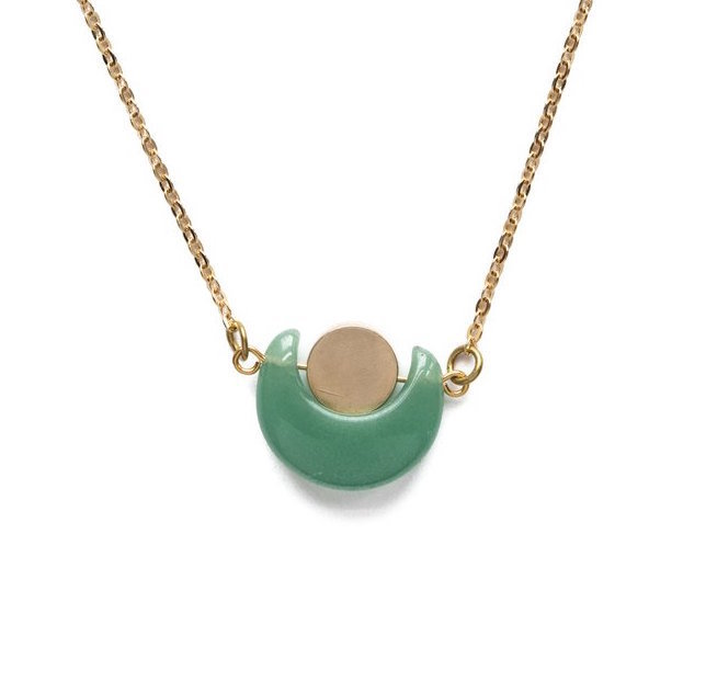 Eclipse Necklace - Green Aventurine