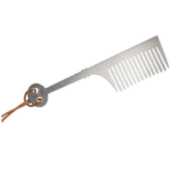 The Andrew Ryan- Small Stainless Steel Beard Comb
