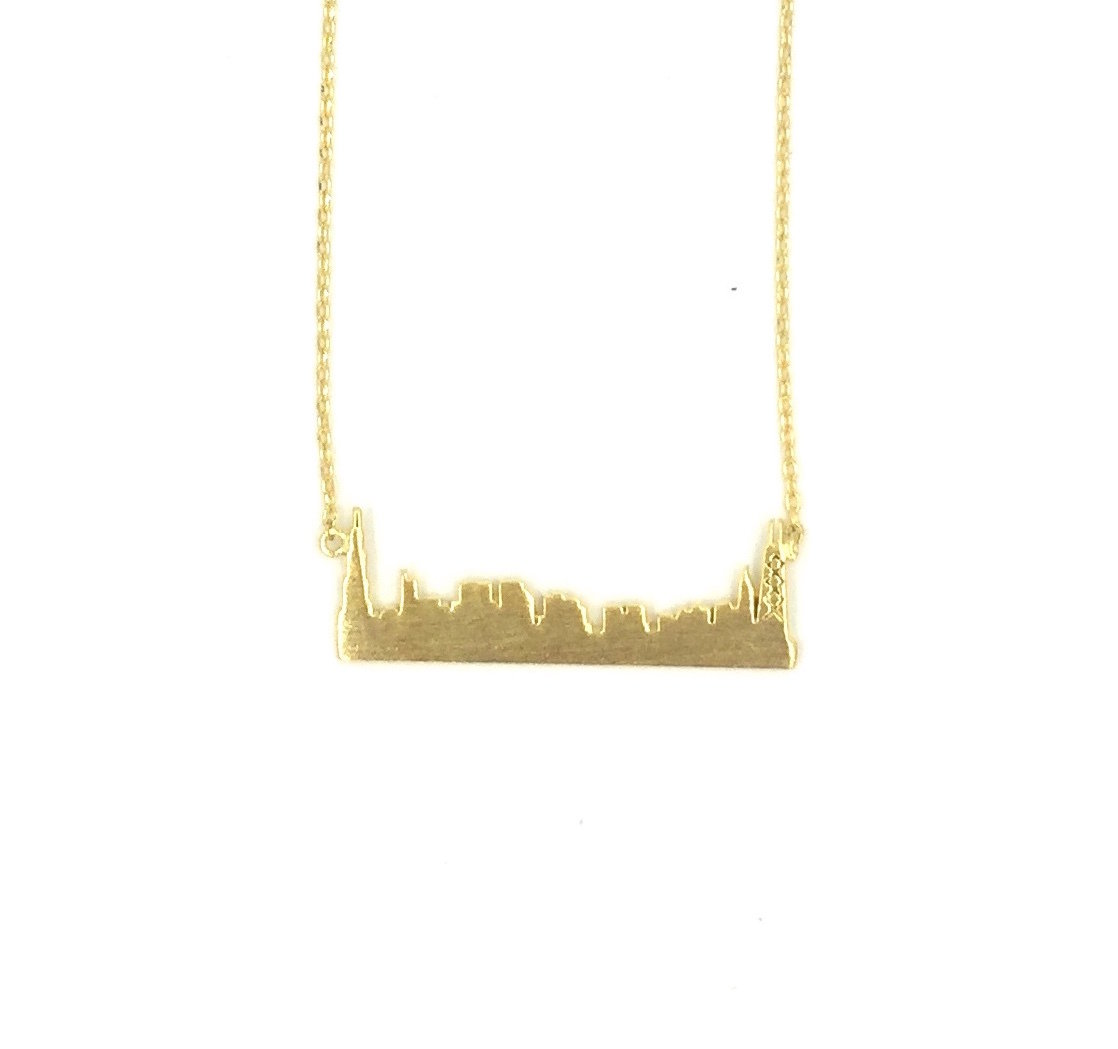 Skyline Gold Plated Necklace