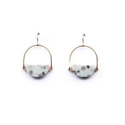 Eclipse Earrings - Kiwi Jasper