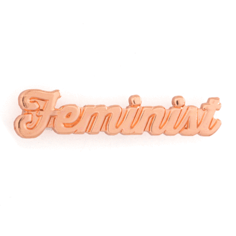 Feminist Enamel Pin - Rose Gold