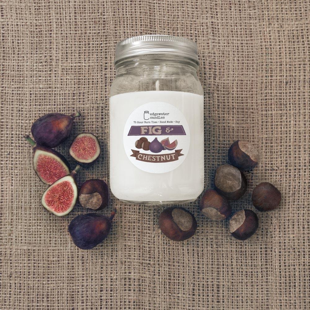 Fig & Chestnut 12oz Soy Candle Jar