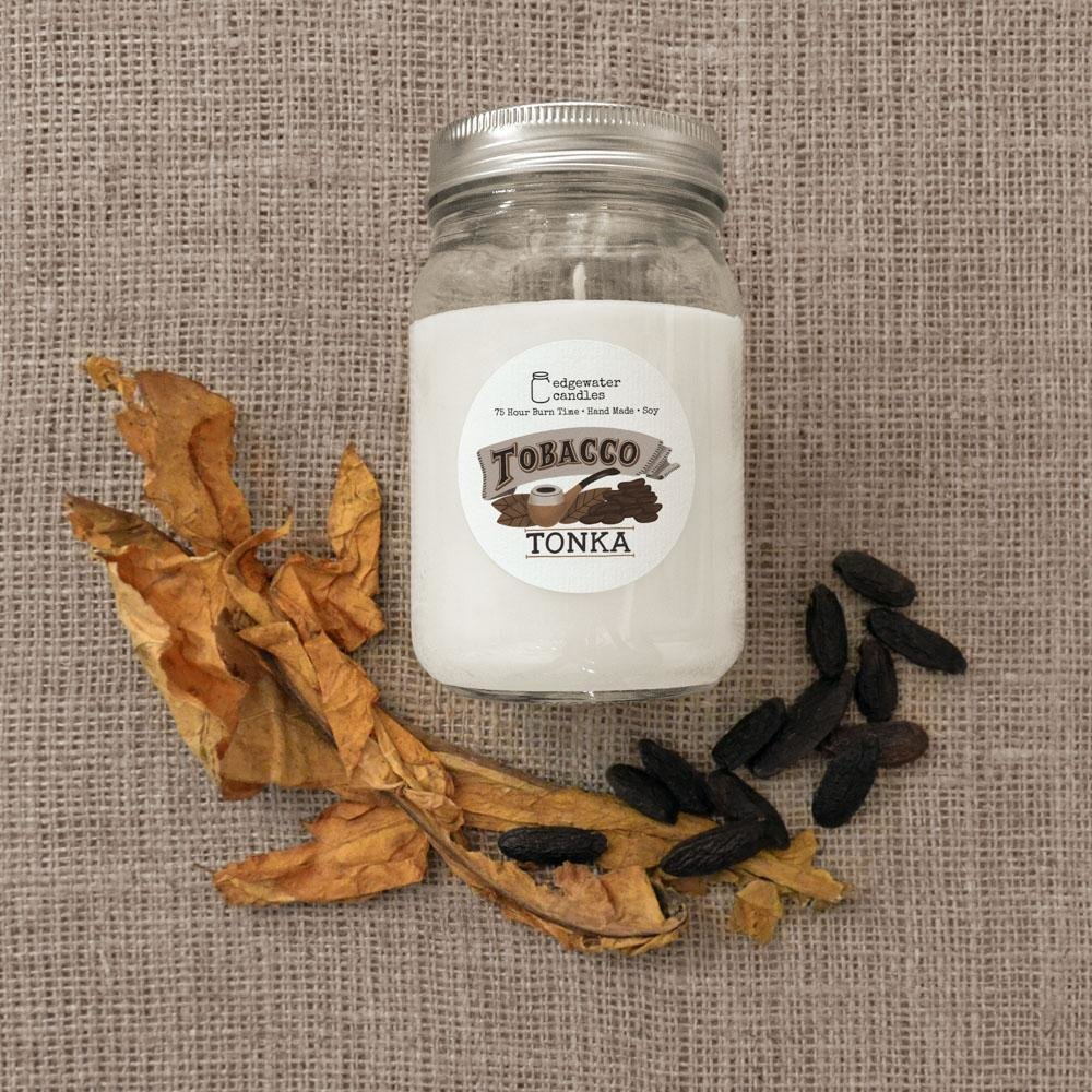 Tobacco Tonka 12oz Soy Candle Jar