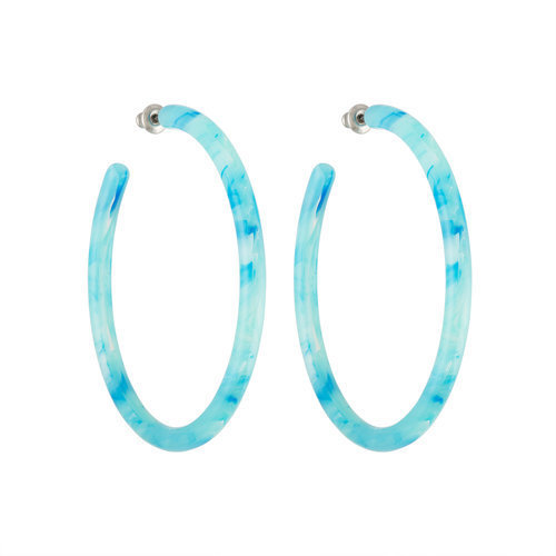Large Hoops - French Coast Blue
