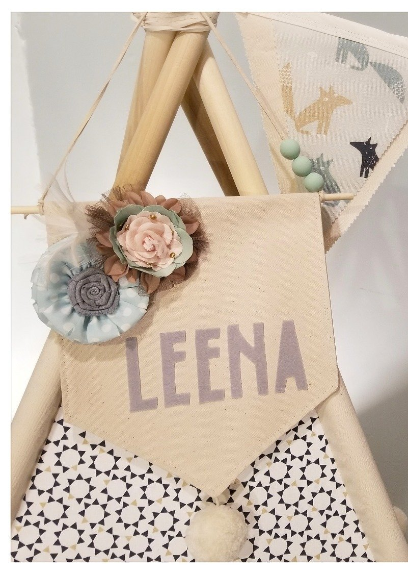 personalized name banner hanging wall banner decorative canvas