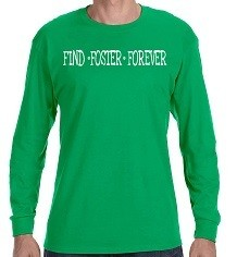 Long Sleeved Unisex Tee in Irish Green, Grey and Black (price includes shipping)