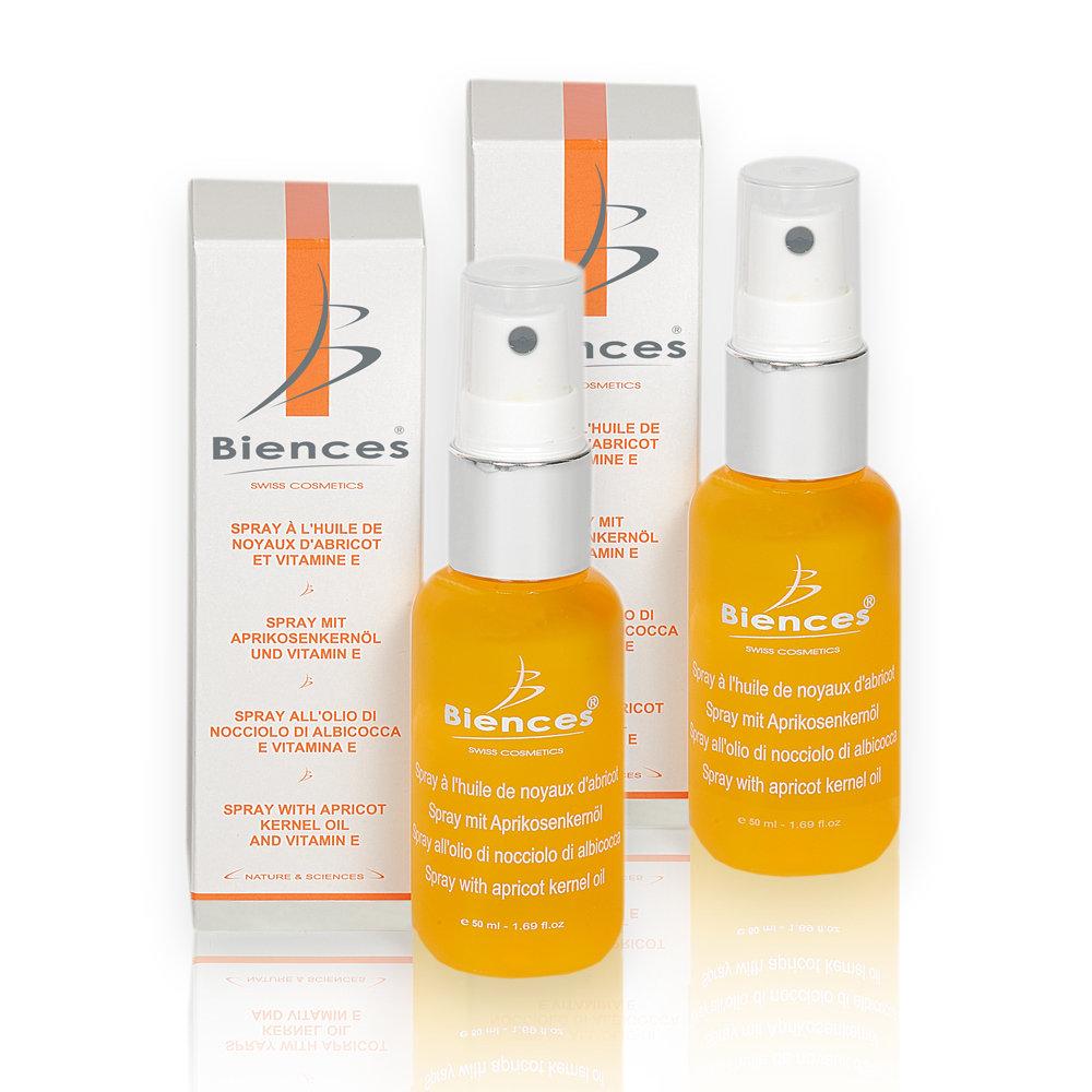 -35% | DUO : Spray mit Aprikosenkernöl und Vitamin E - 2 x 50 ML