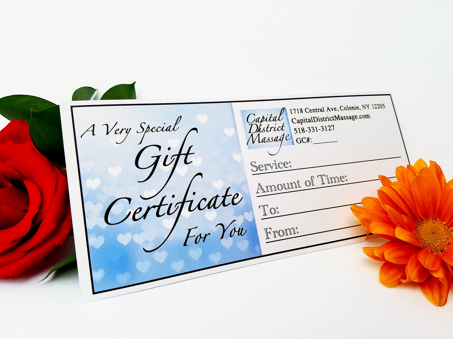 Couples Massage Class Gift Certificate
