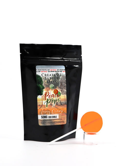 CBD Lollipop Tangy Orange Sugar Free - 50mg 00039