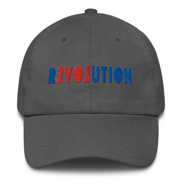 REVOLUTION-LOVE classic base ball, buckled back cotton cap. Free shipping promo code available!