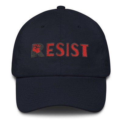 RESIST classic base ball, buckled back cotton cap. Free shipping promo code available!