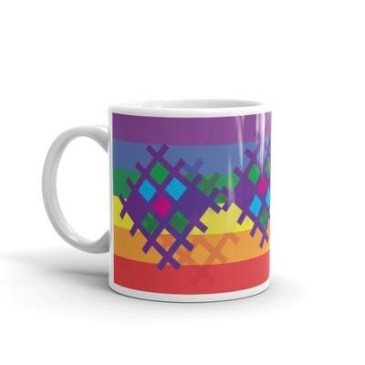 Pride Pattern mug designed by LaNetaNeta. Free shipping + 15% discount code below!
