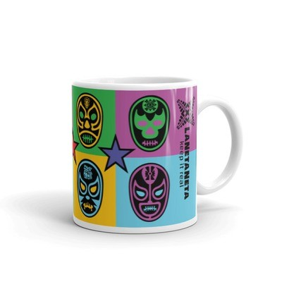 Lucha Libre Mug by LaNetaNeta. Free shipping + 15% discount code below!