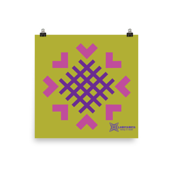Premium Luster Photo Paper Poster. Sacred Threads designed by LaNetaNeta. Free shipping + 15% discount code below!