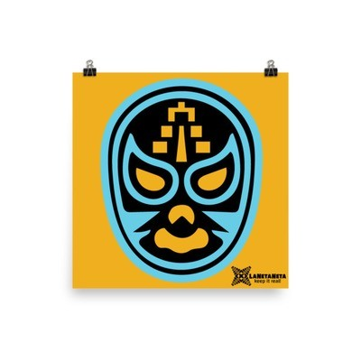 El Templar Lucha Libre Mask, photo paper poster by LaNetaNeta