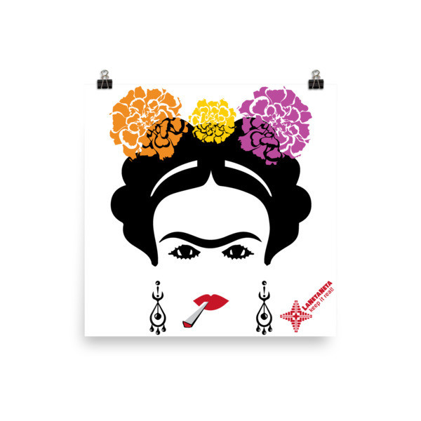 Premium Luster Photo Paper Poster. Frida with Blunt design by LaNetaNeta