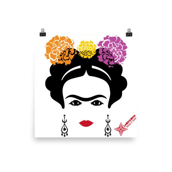Premium Luster Photo Paper Poster. Frida designed by LaNetaNeta. Free shipping + 15% discount code below!