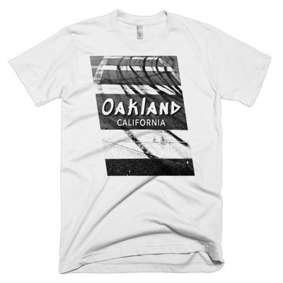 Oakland Doughnuts, American Apparel Men's T-Shirt. Free shipping promo code available!