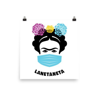LaFrida With Mask photo paper poster