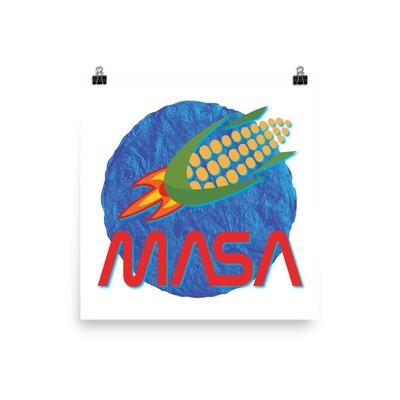 MASA CornShip Blue Tortilla photo paper poster