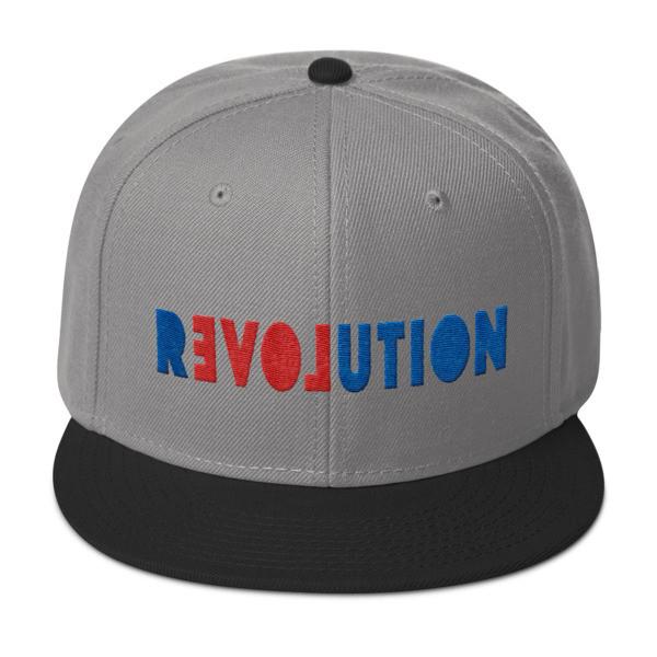 Otto Cap Wool Blend Snapback Hat. REVOLUTION=LOVE design by LaNetaNeta