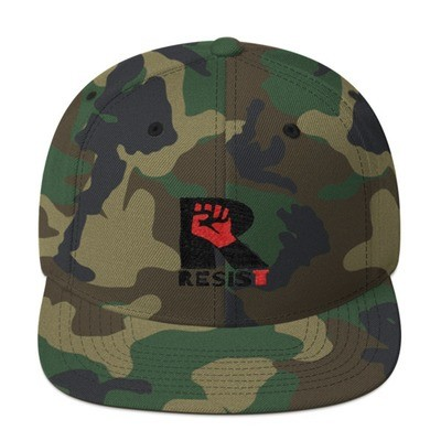 Yupoong Wool Blend Snapback Hat. RESIST design by LaNetaNeta. Free shipping promo code available!