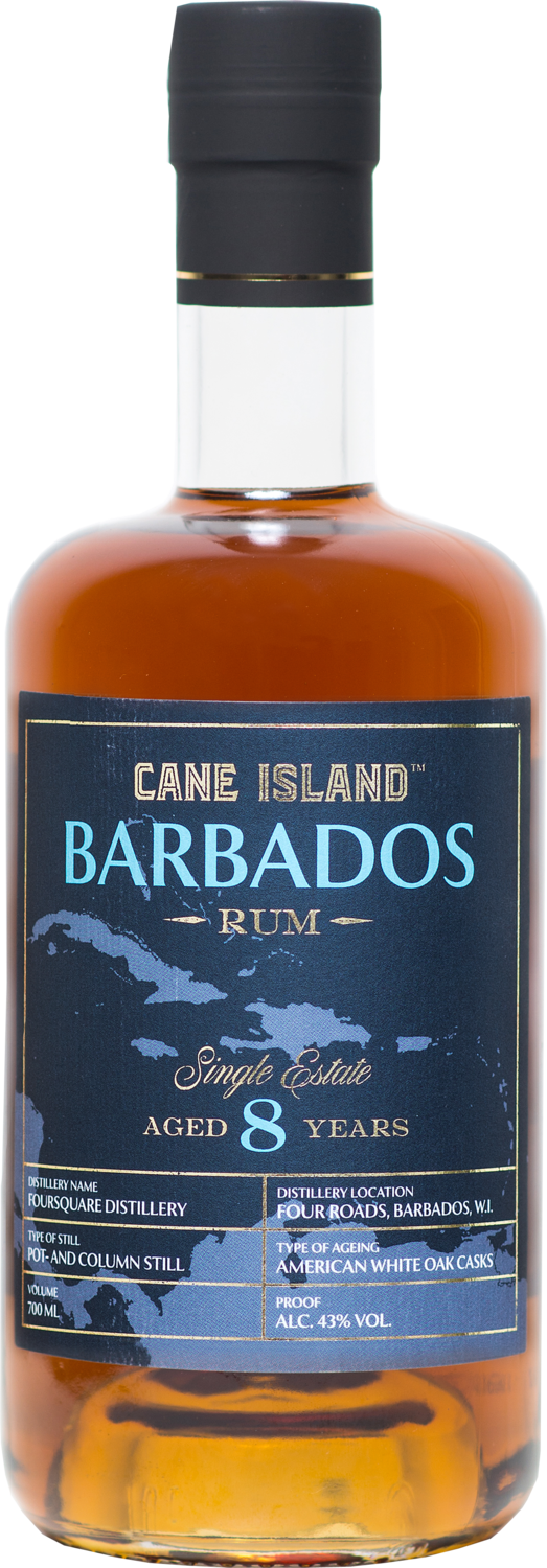 "Cane Island Rum - Foursquare 8 Years Old ""Single Estate Barbados"""