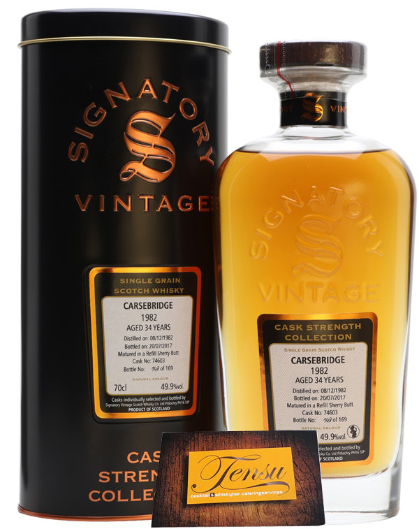 "Carsebridge 34 Years Old (1982-2017) ""Signatory"" [CLOSED DISTILLERY]"