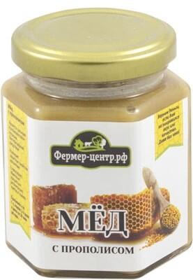 Мёд натуральный с прополисом 240г