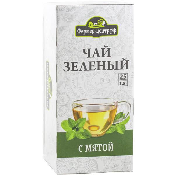 Чай зеленый с мятой, 25пак