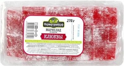 Мармелад со вкусом клюквы, 270г