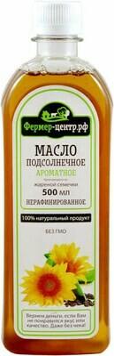 Масло подсолнечное ароматное нераф, 0,5 л