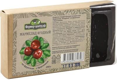 Мармелад ягодный с брусникой, 200г