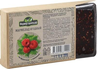 Мармелад ягодный с малиной, 200г