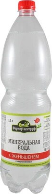 Минеральная вода с женьшенем газированная, 1.5л