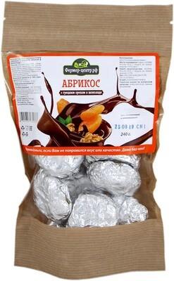Конфеты Абрикос с грецким орехом в шоколаде, 240г