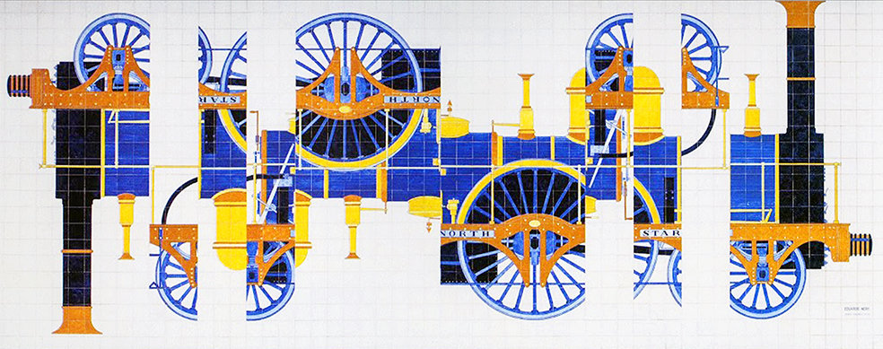 TRAIN by Portuguese Tiles of Lisbon