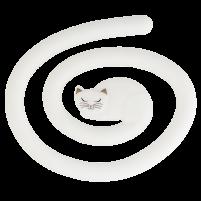 Pot onderzetter kat wit