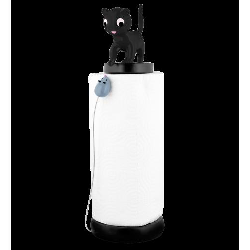 Keukenrolhouder kat en muis zwart