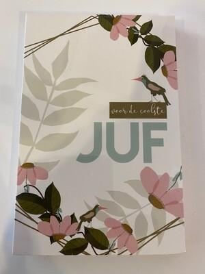 Blocknote juf bloemen