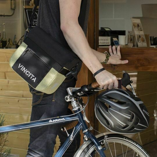 Bicycle Bag Handlebar - John in Faded Green