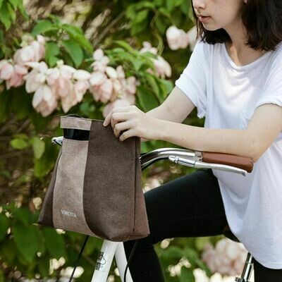 Bicycle Bag Handlebar - Viola in Brown