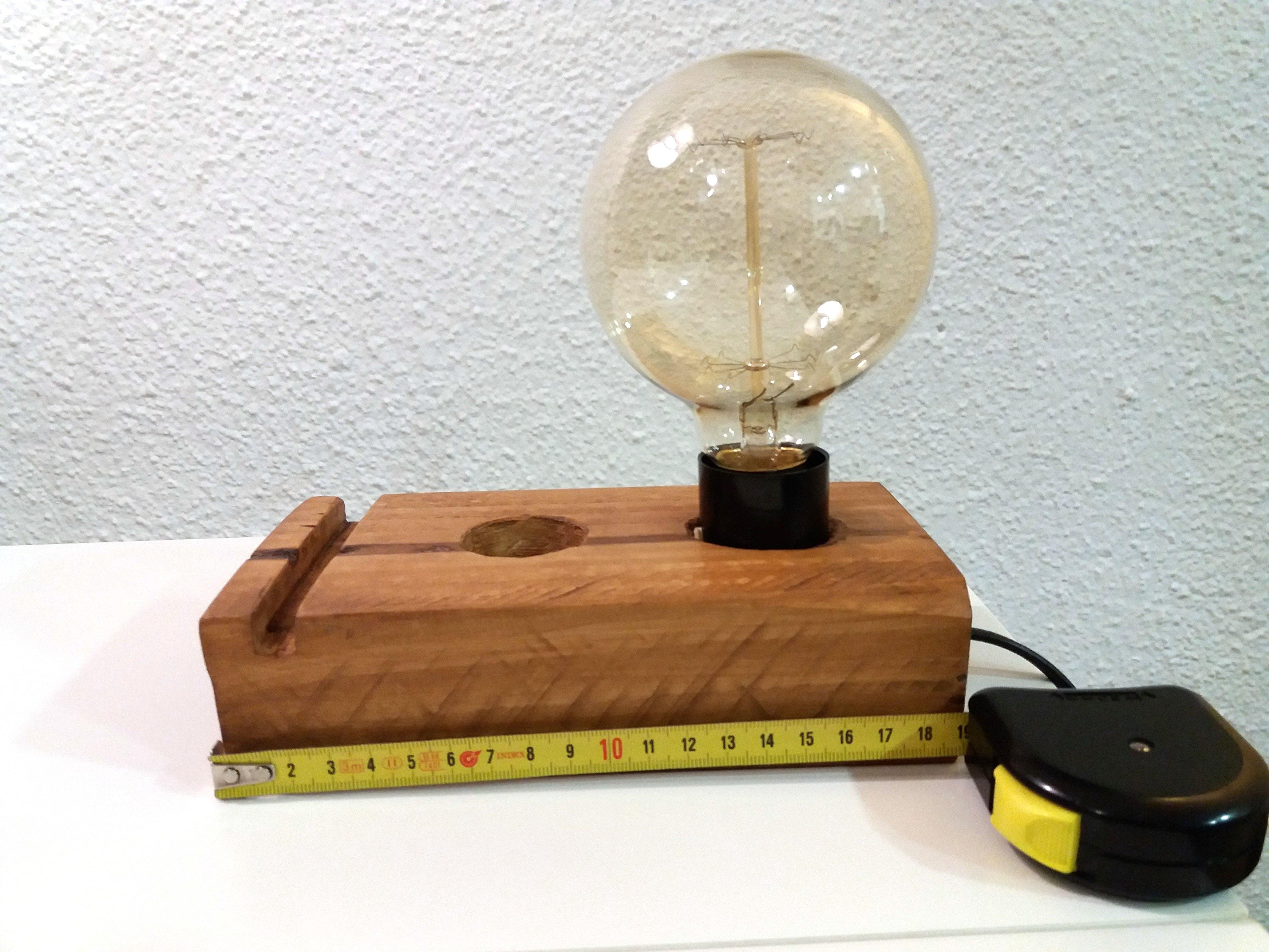 Lámparas madera