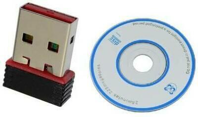 Mini WiFi Wireless 802.11 USB Adapter (Black)