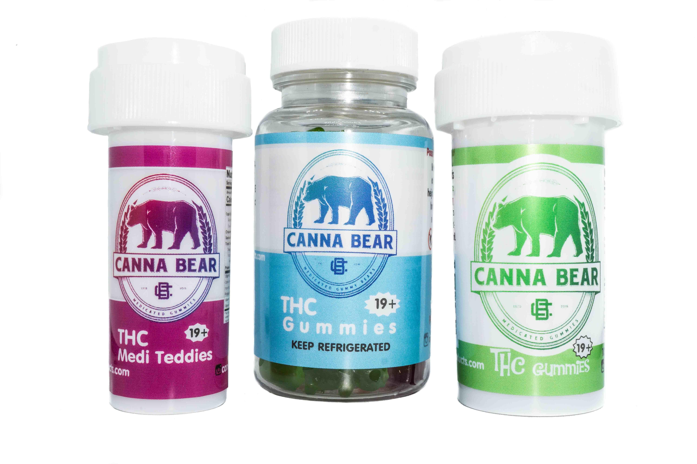 Organic Full Spectrum Gummies By Cannabear (100-500mg) 01255
