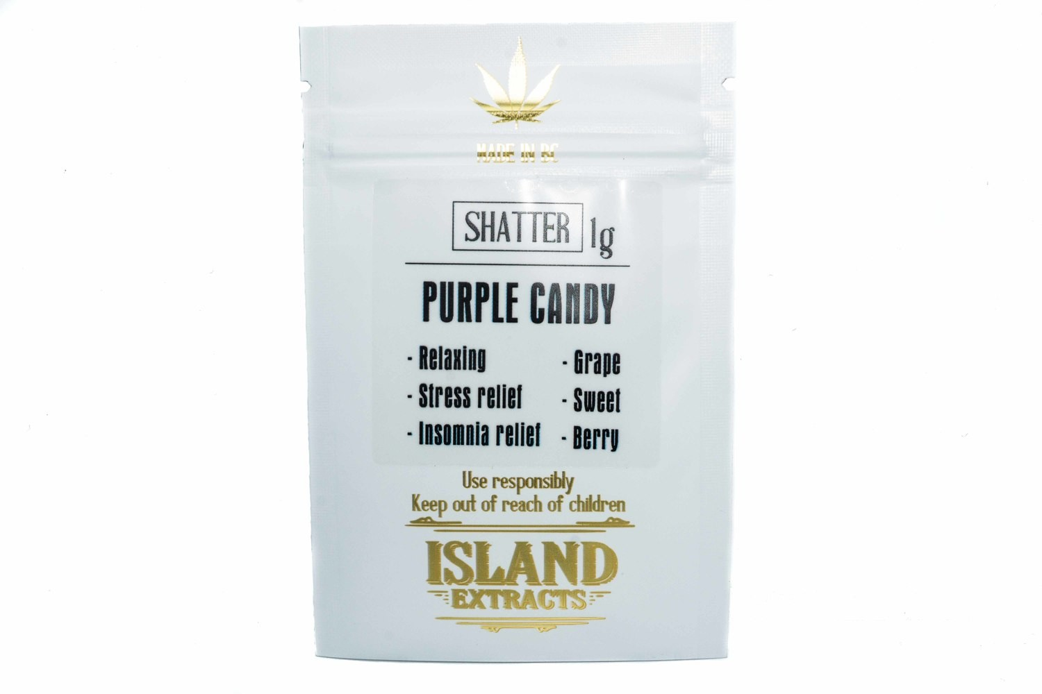 Purple Candy Shatter (1g) by Island Extracts