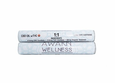1:1 Original (Full Spectrum) (Indica) CBD Replacement Cartridge by Awakn Wellness